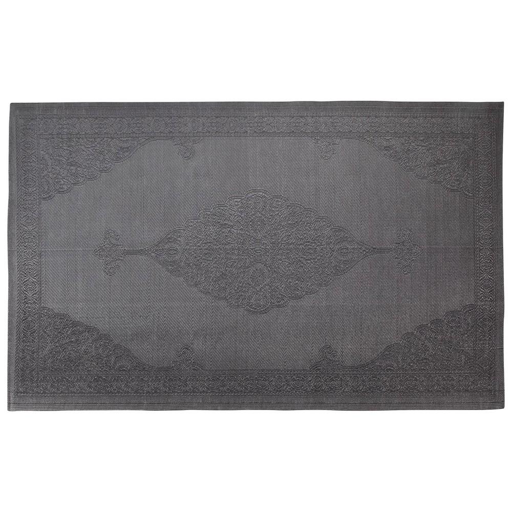 Tapis d'extérieur en polypropylène gris 180x270