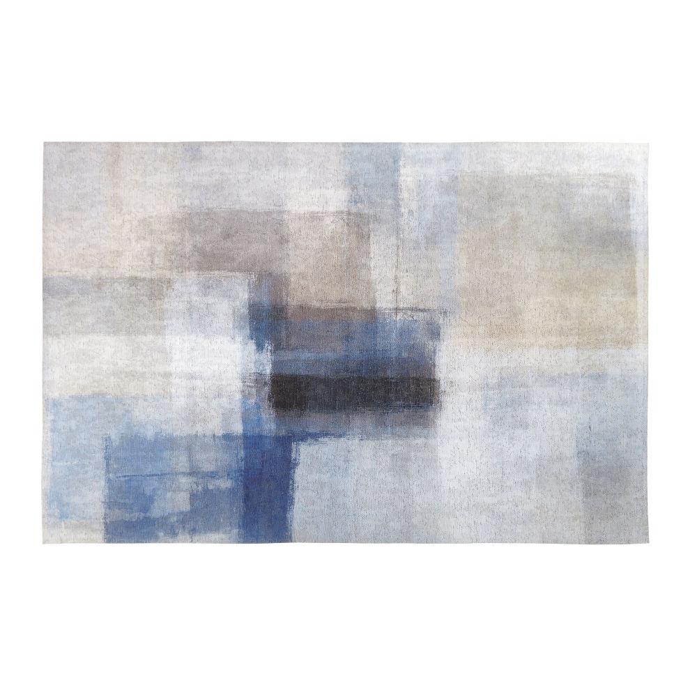 Tapis effet patchwork multicolore 160x230