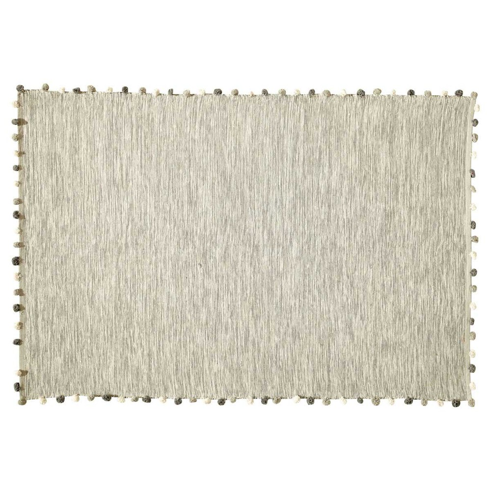 Tapis en coton écru 120x180