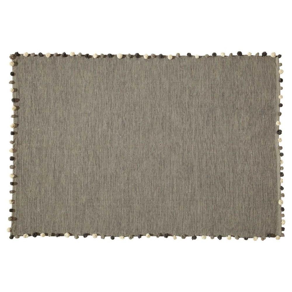 Tapis en coton gris 120x180