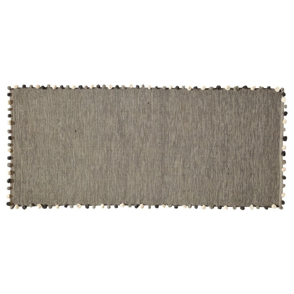 Tapis en coton gris 80x200