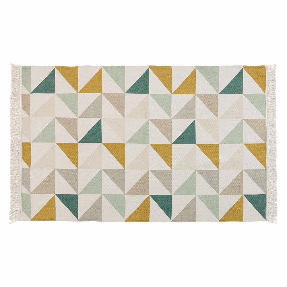 Tapis en coton motifs graphiques multicolores 120x180