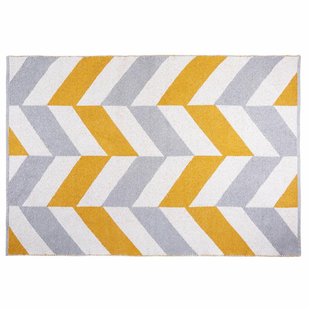 Tapis en coton motifs graphiques multicolores 180x120