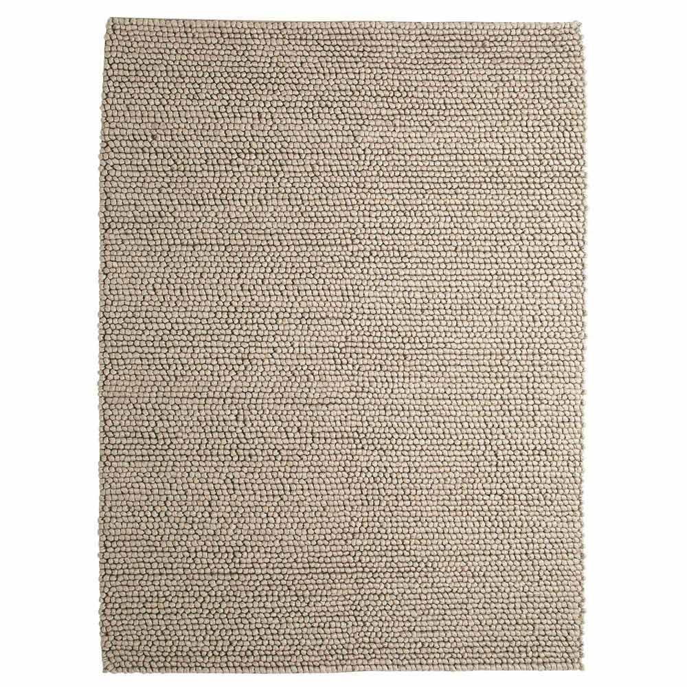 Tapis en laine beige 160 x 230 cm