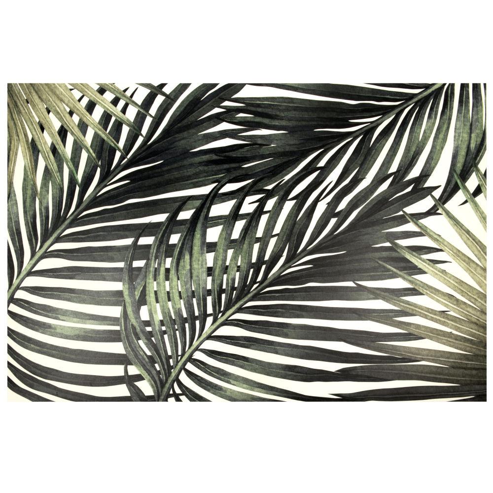 Tapis en vinyle imprimé feuilles tropicales 100x150