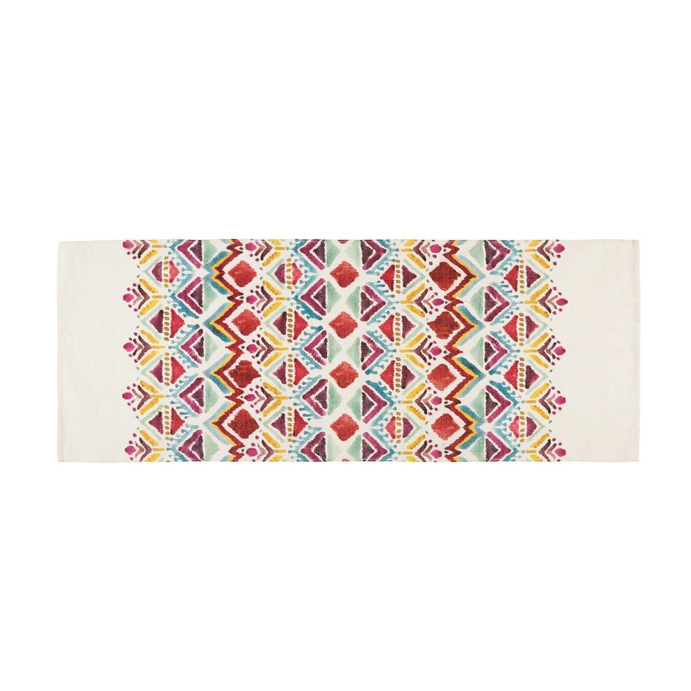 Tapis imprimé ethnique multicolore 80x200