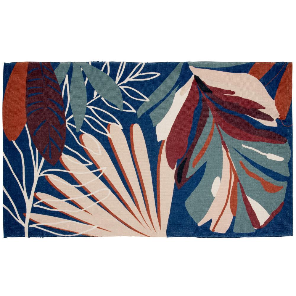 Tapis imprimé feuillage multicolore 90x150