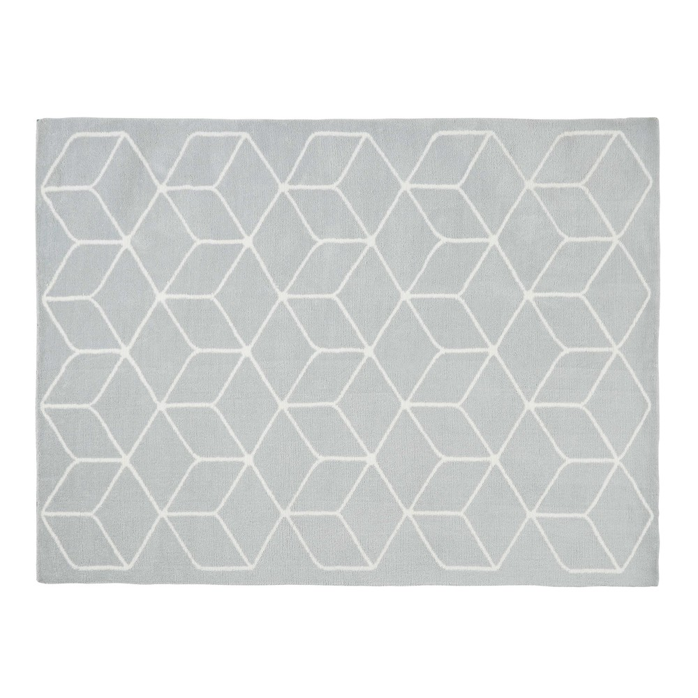 Tapis motifs gris et blancs 140x200cm