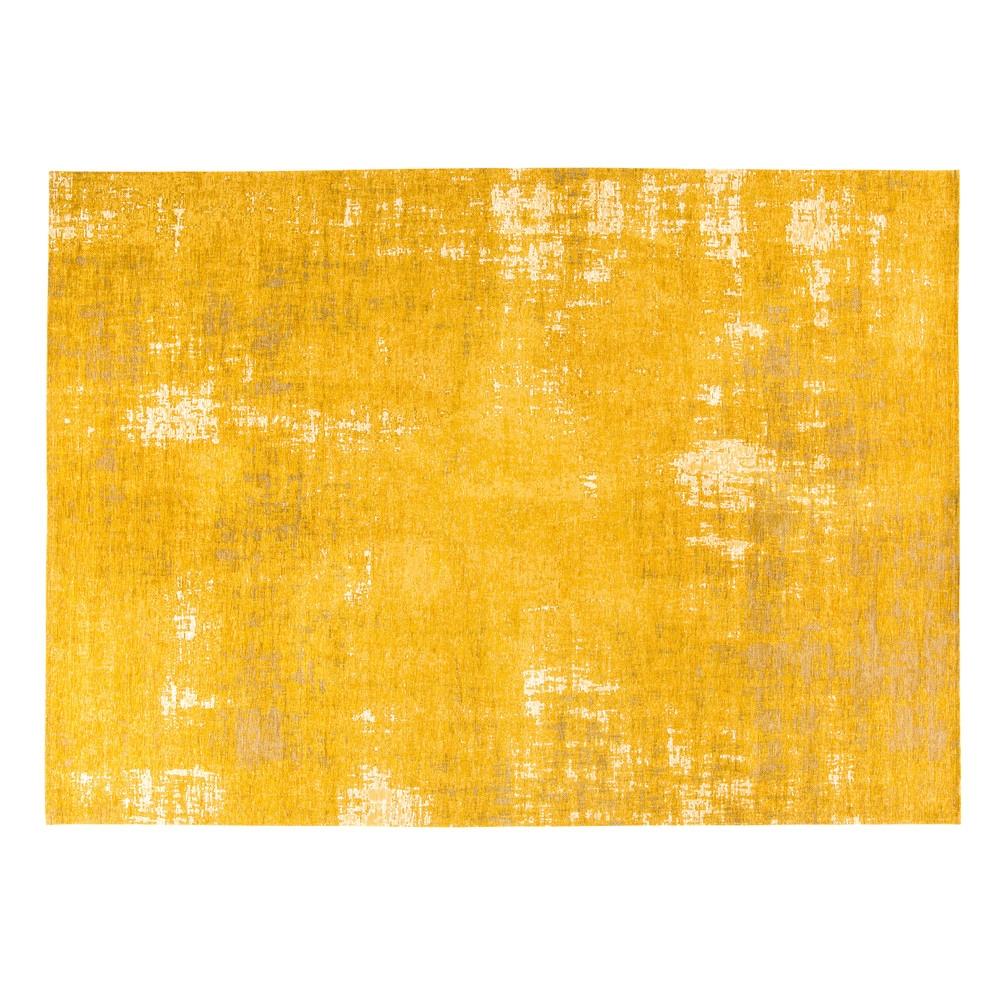 Tapis tissé jacquard jaune moutarde 200x290, OEKO-TEX®