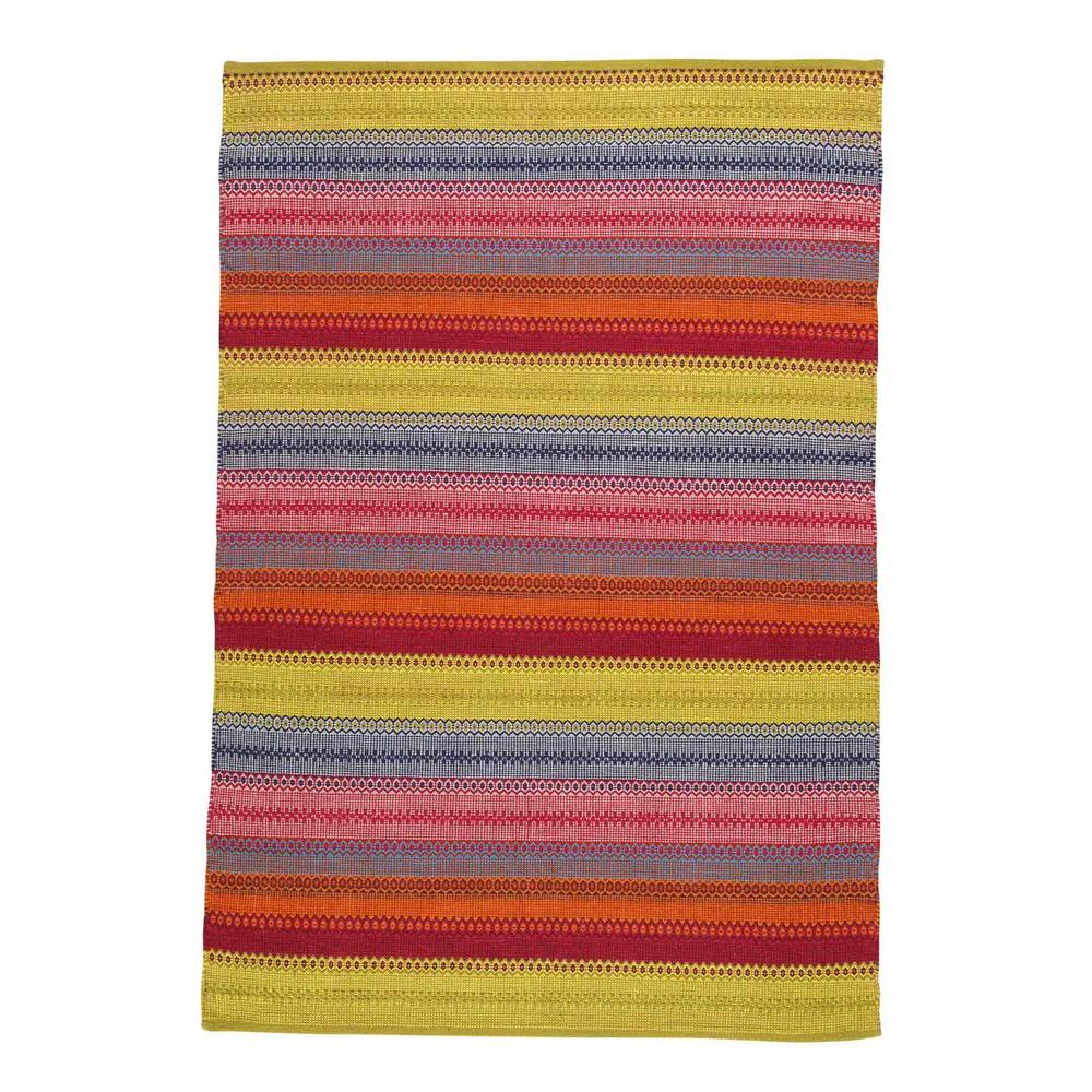 Tapis tissé jacquard multicolore 140 x 200 cm