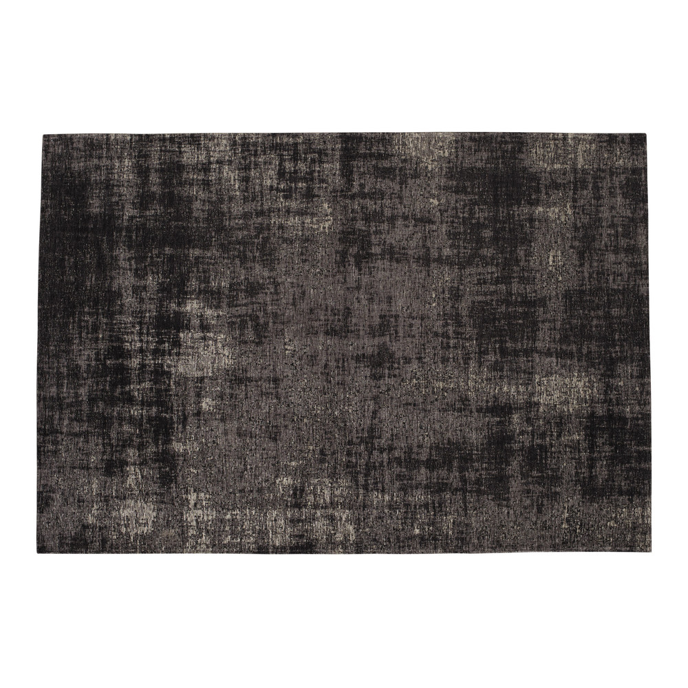 Tapis tissé jacquard noir 140x200, OEKO-TEX®