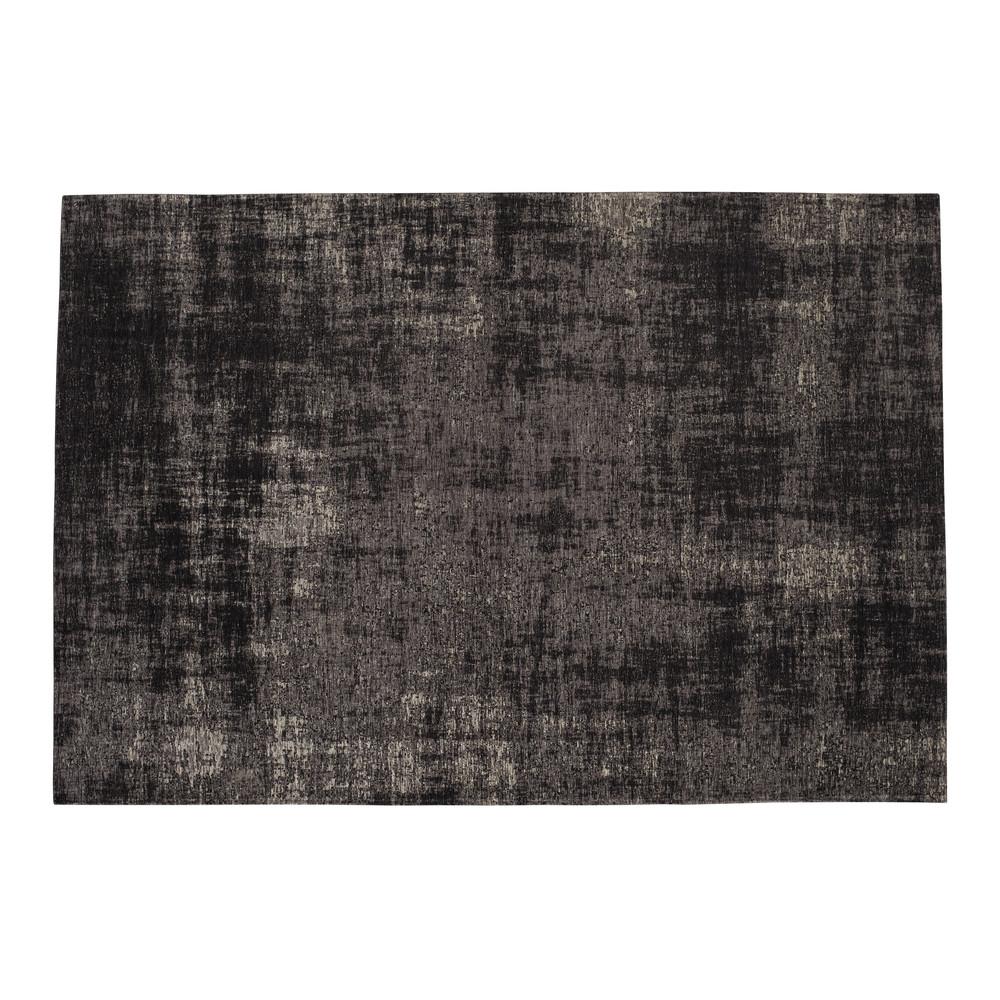 Tapis tissé jacquard noir 155x230, OEKO-TEX®