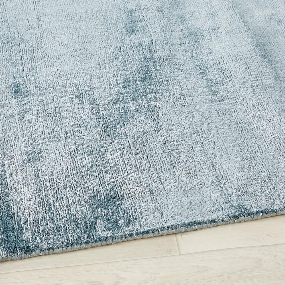 Tapis tufté bleu 140x200
