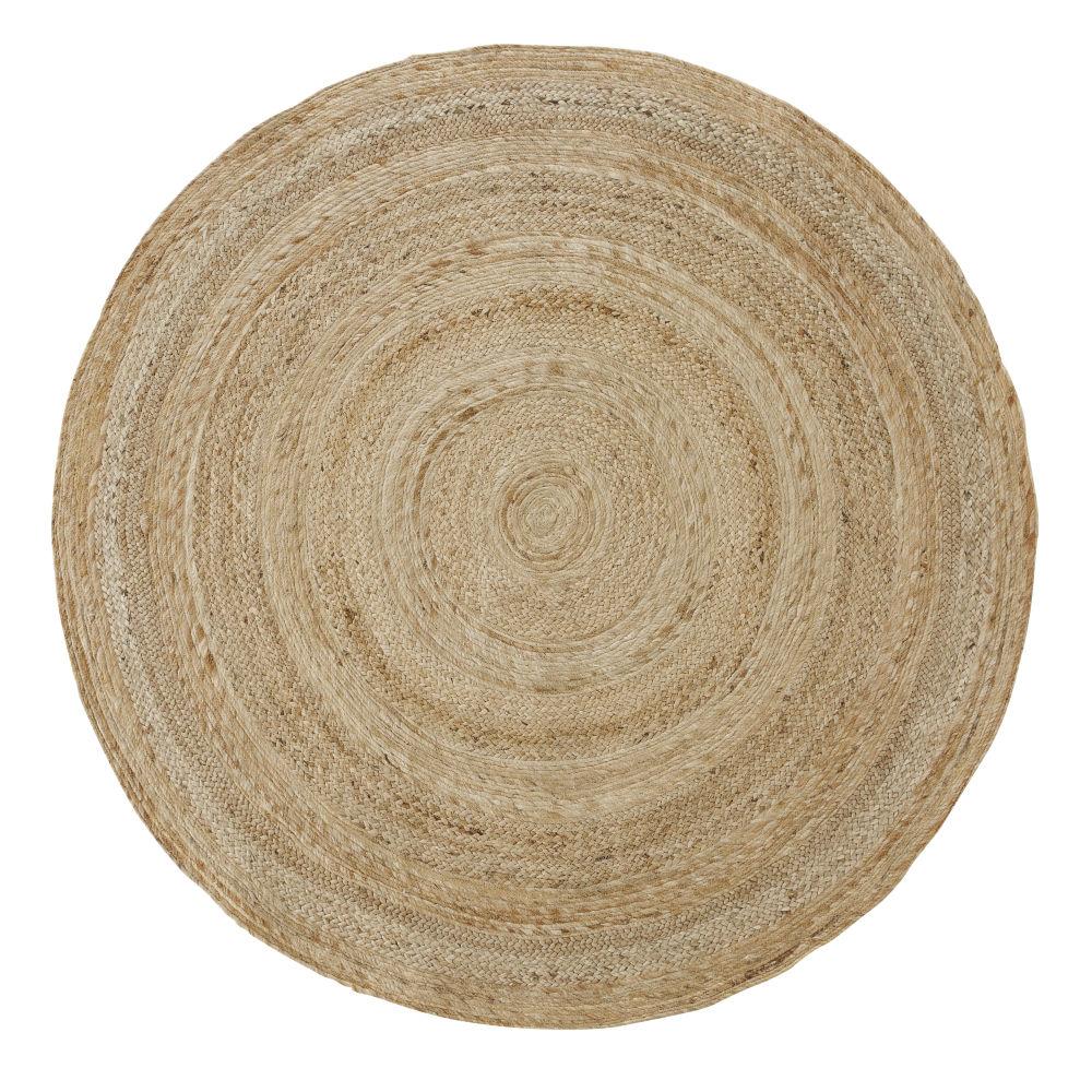 Tappeto rotondo in iuta intrecciata beige � 150 cm
