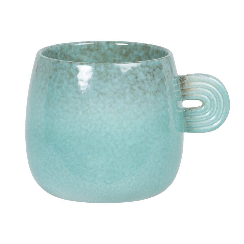 Tasse boule en porcelaine bleue