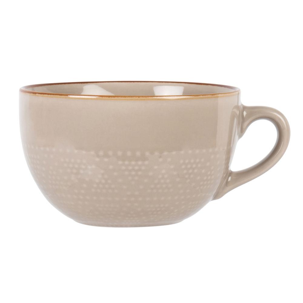 Tasse en faïence beige