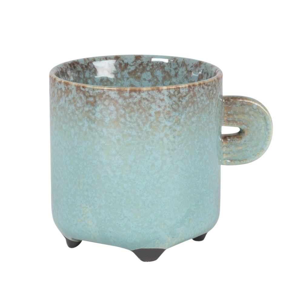 Tasse en porcelaine bleue