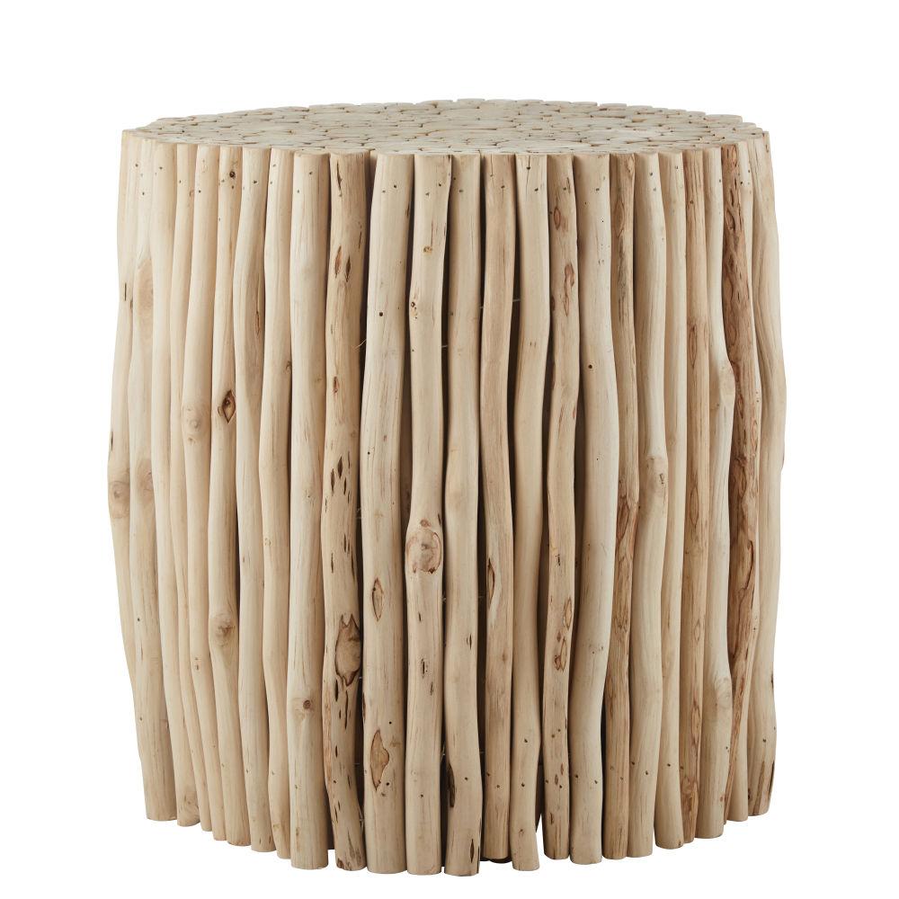 Tavolino da salotto in legno di mimosa