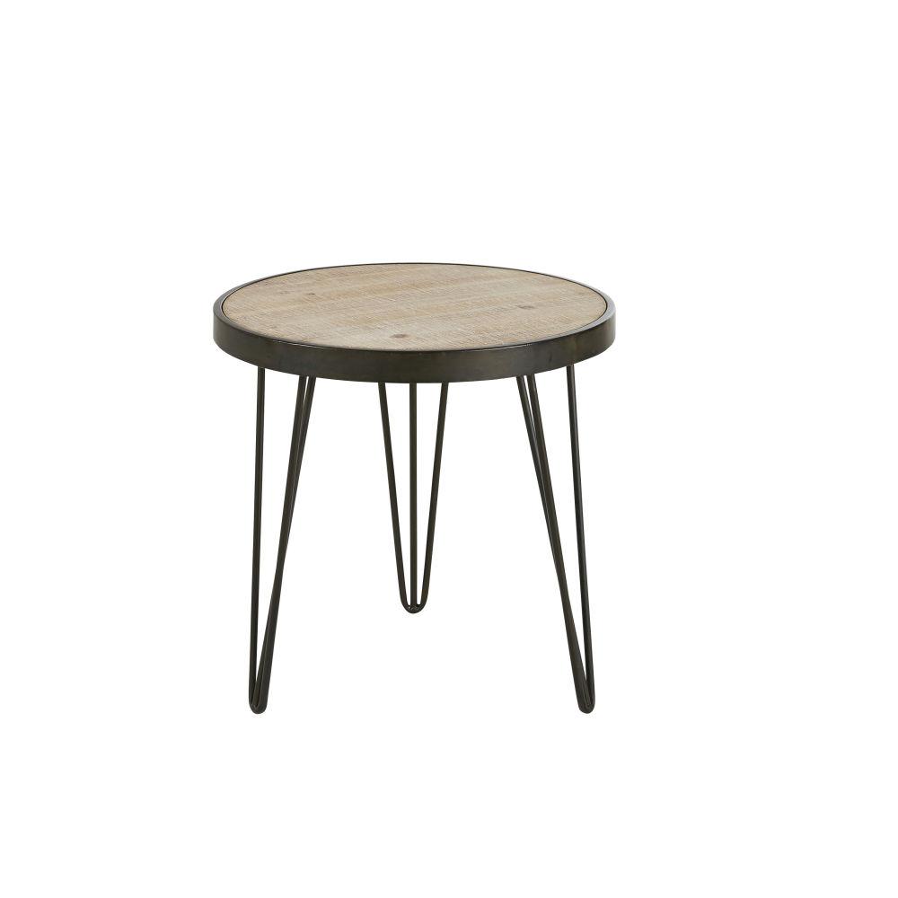 Tavolino da salotto treppiede in metallo nero