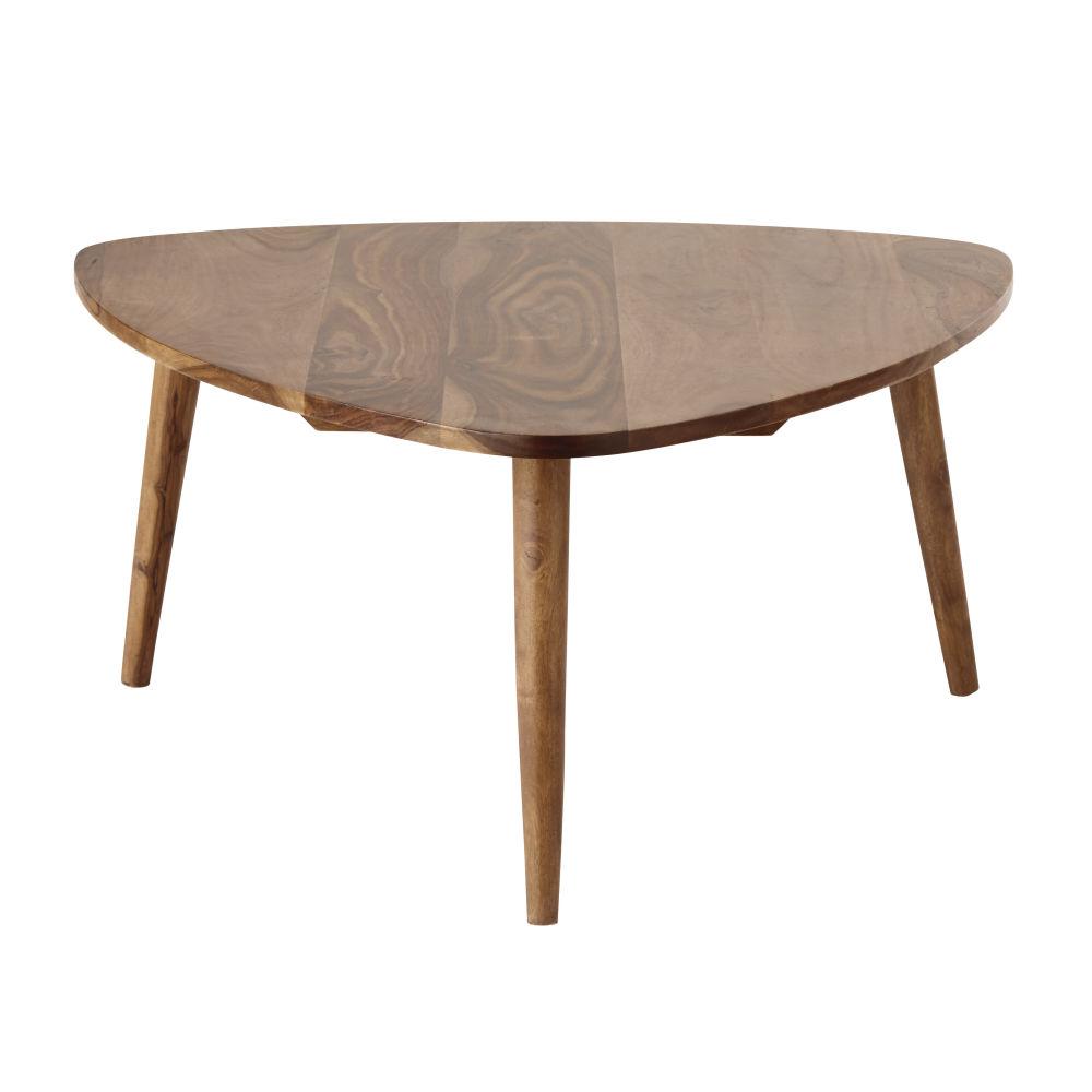 Tavolo basso vintage in legno massello di sheesham