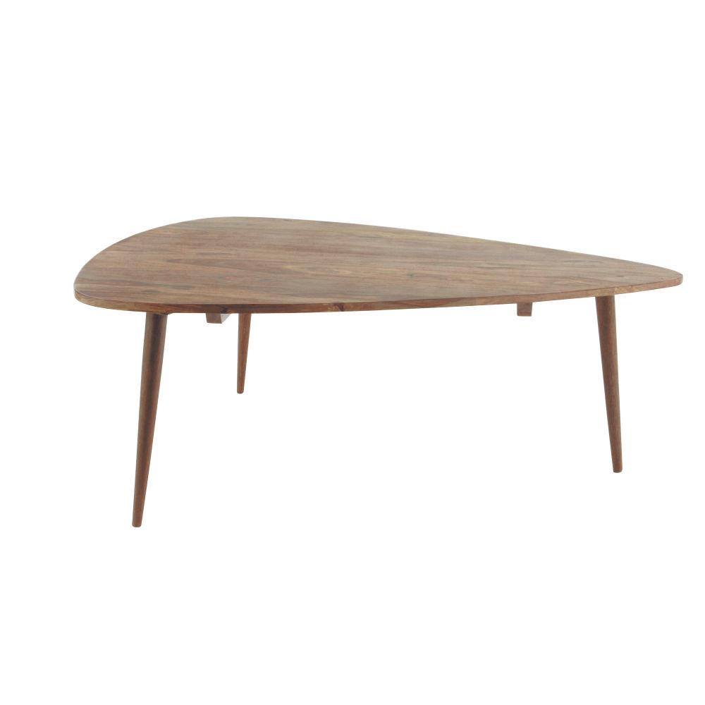 Tavolo basso vintage in massello di legno di sheesham