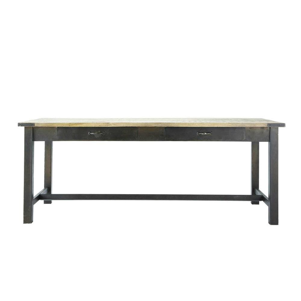 Tavolo per sala da pranzo in mango e metallo 200 cm