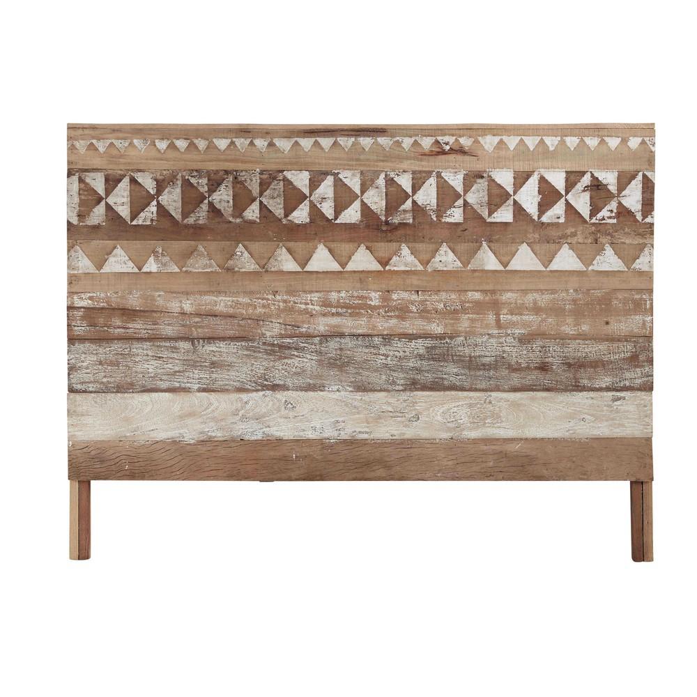 Tête de lit à motifs en bois recyclé L 160 cm