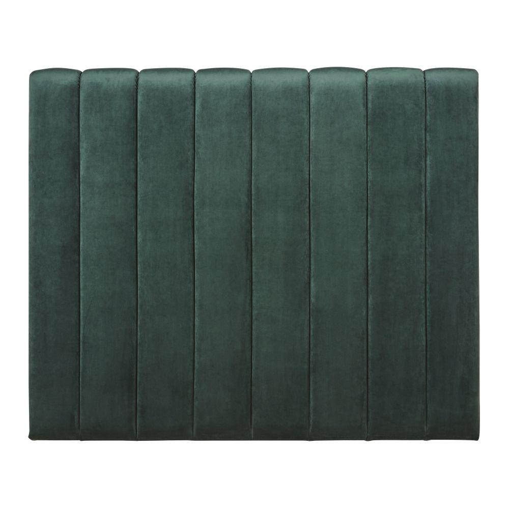 Tête de lit matelassée 160 en velours vert
