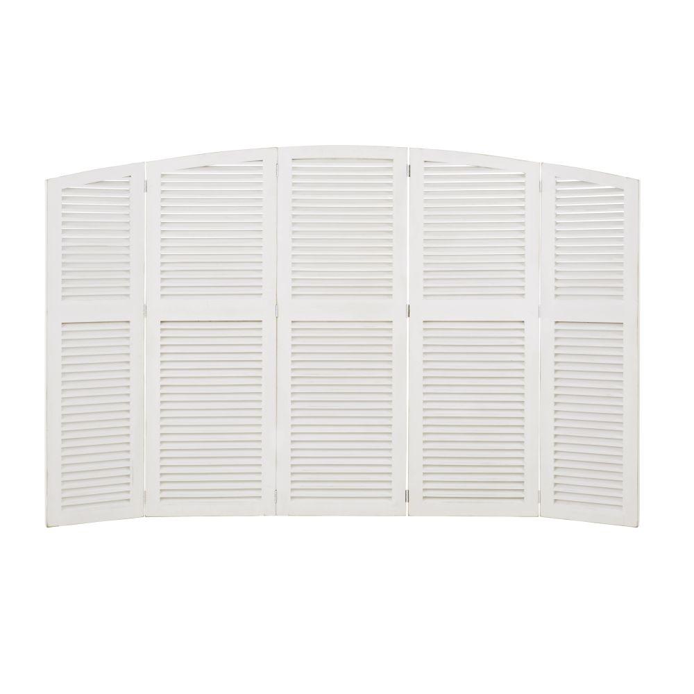 Tête de lit pliante avec persiennes blanche