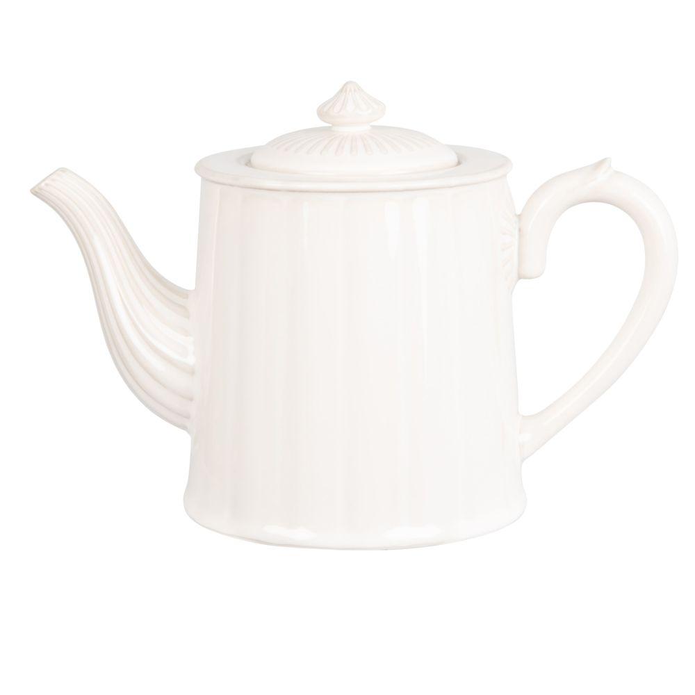 Théière en porcelaine blanche 1L