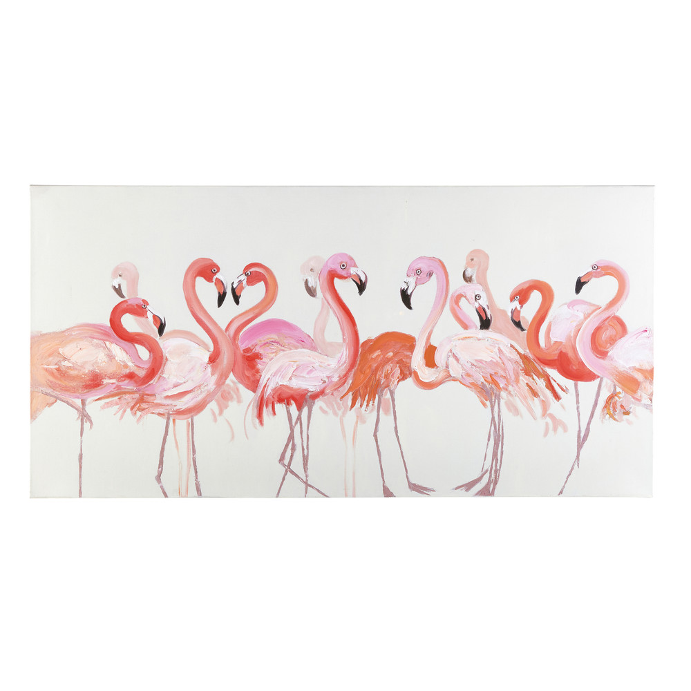 Toile flamants roses 140x70