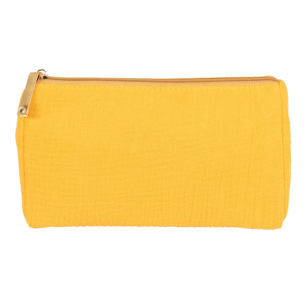 Trousse en coton jaune
