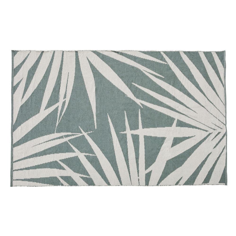 Tuintapijt Met Beige En Groene Bladerenprint 120 X 180 Cm