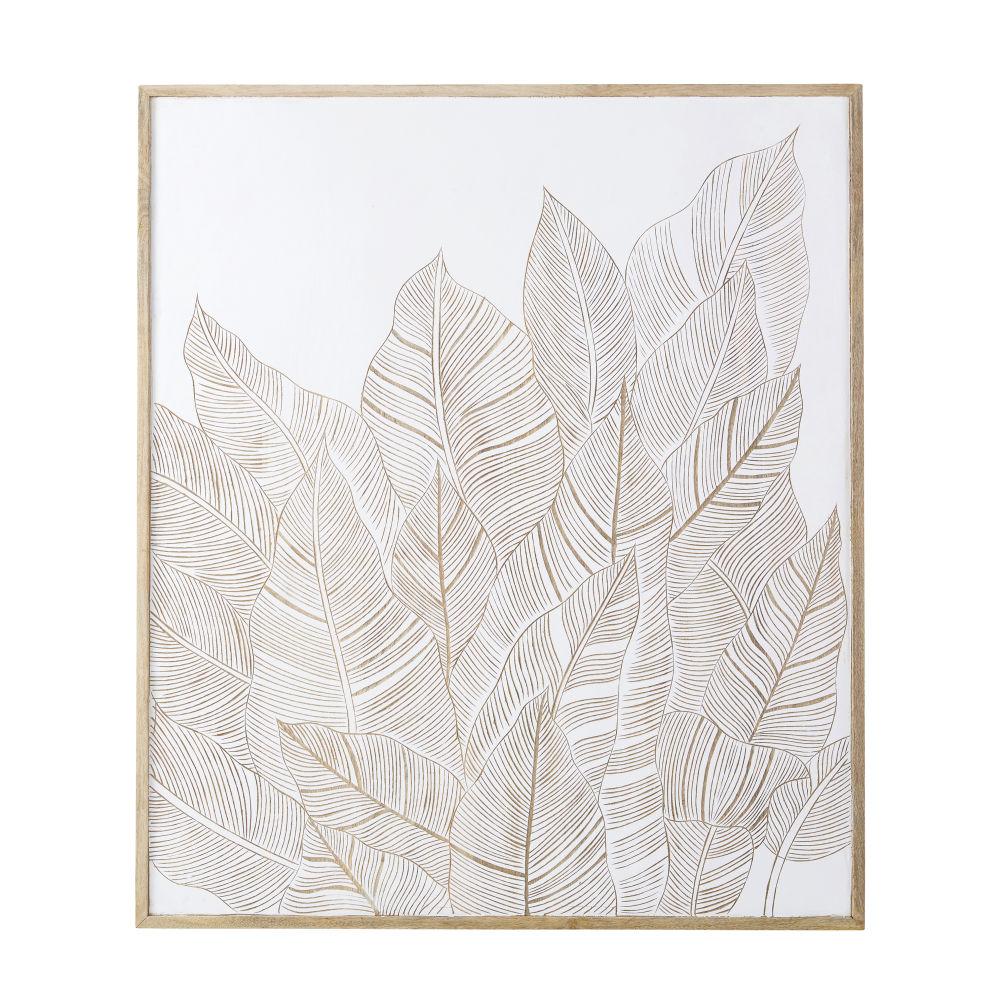 Tweekleurige Mangohouten Wanddecoratie Met Snijwerk 95 X 111 Cm