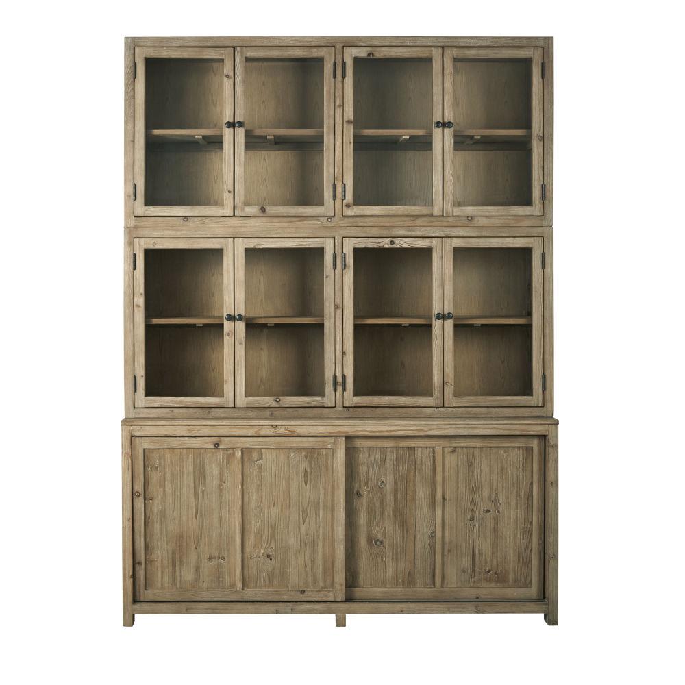Vaisselier 10 portes finition blanchie (photo)