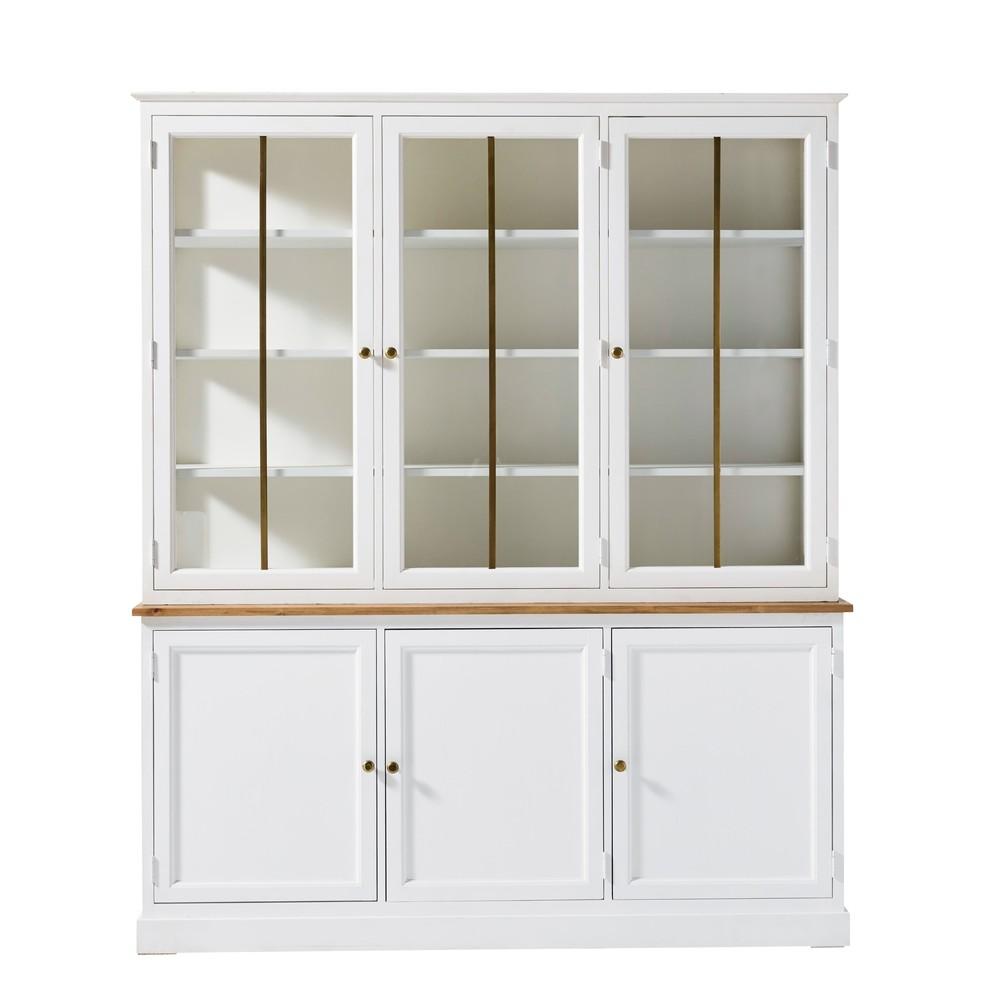 Vaisselier 6 portes blanc