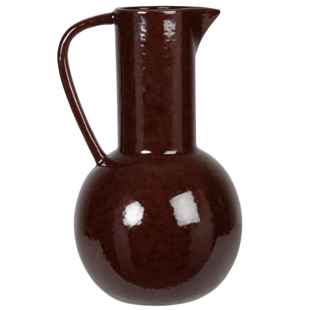 Vase à anse en grès rouge H29