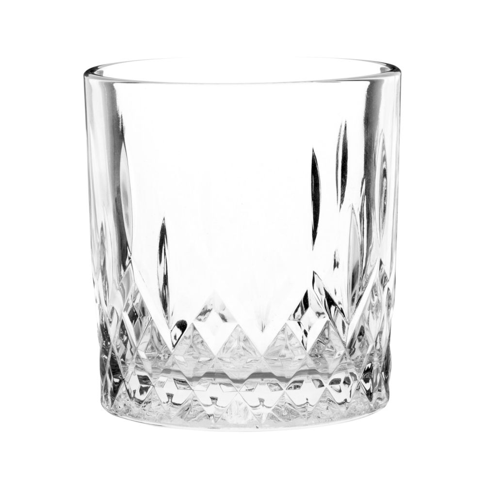 Vaso de whisky de cristal tallado