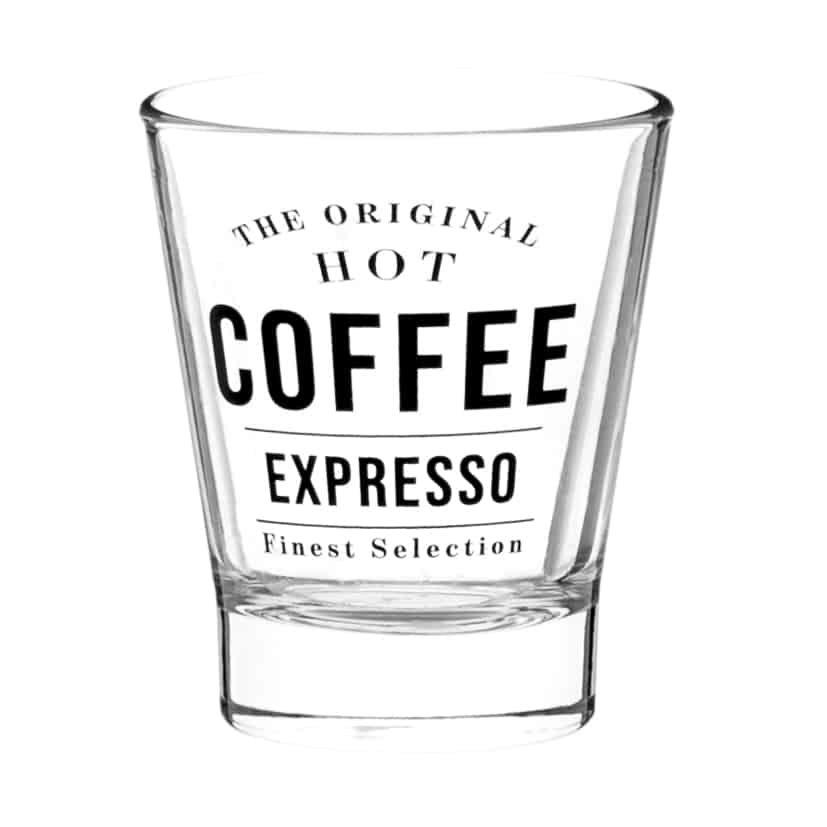 Verre à café expresso en verre imprimé