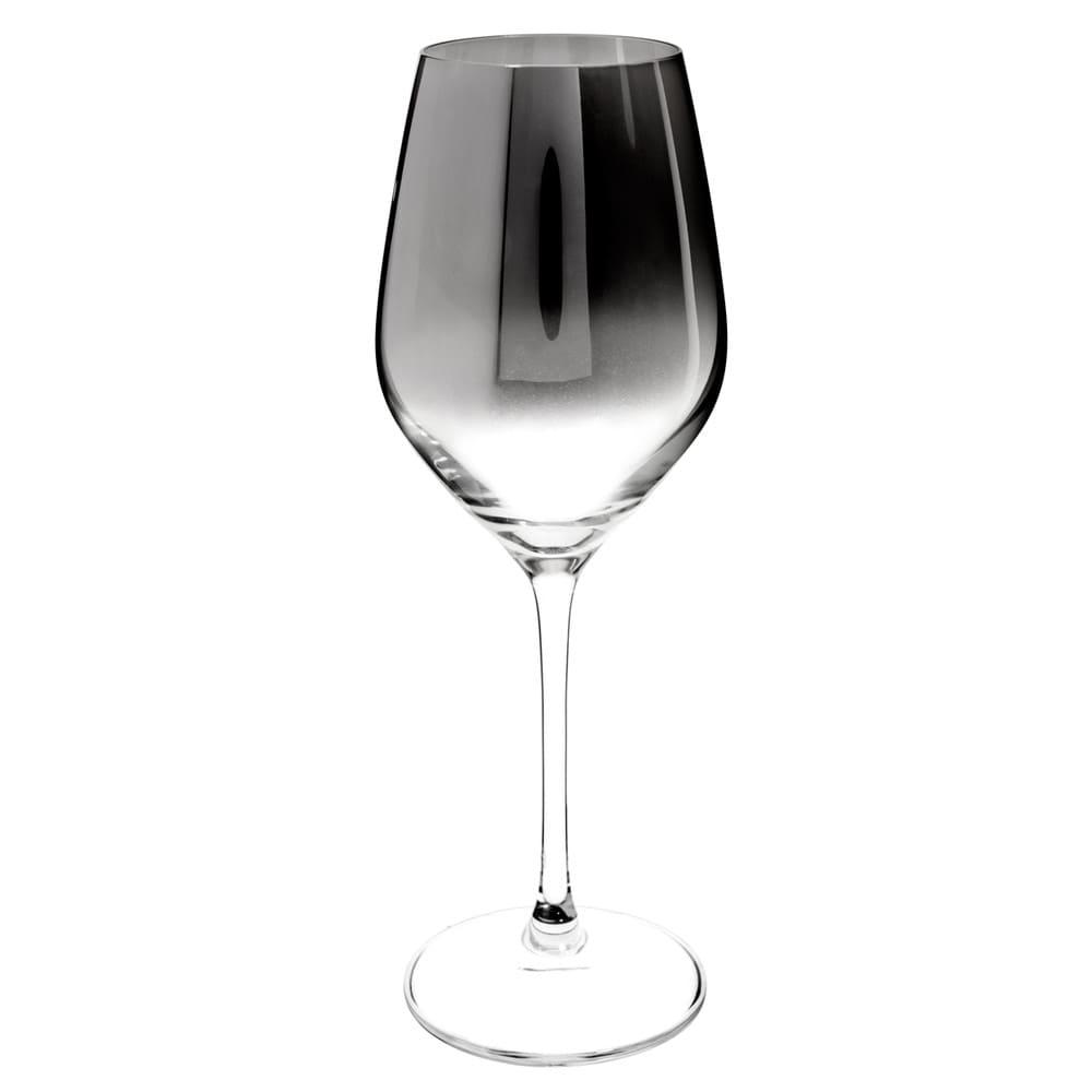 Verre à vin en verre effet chromé