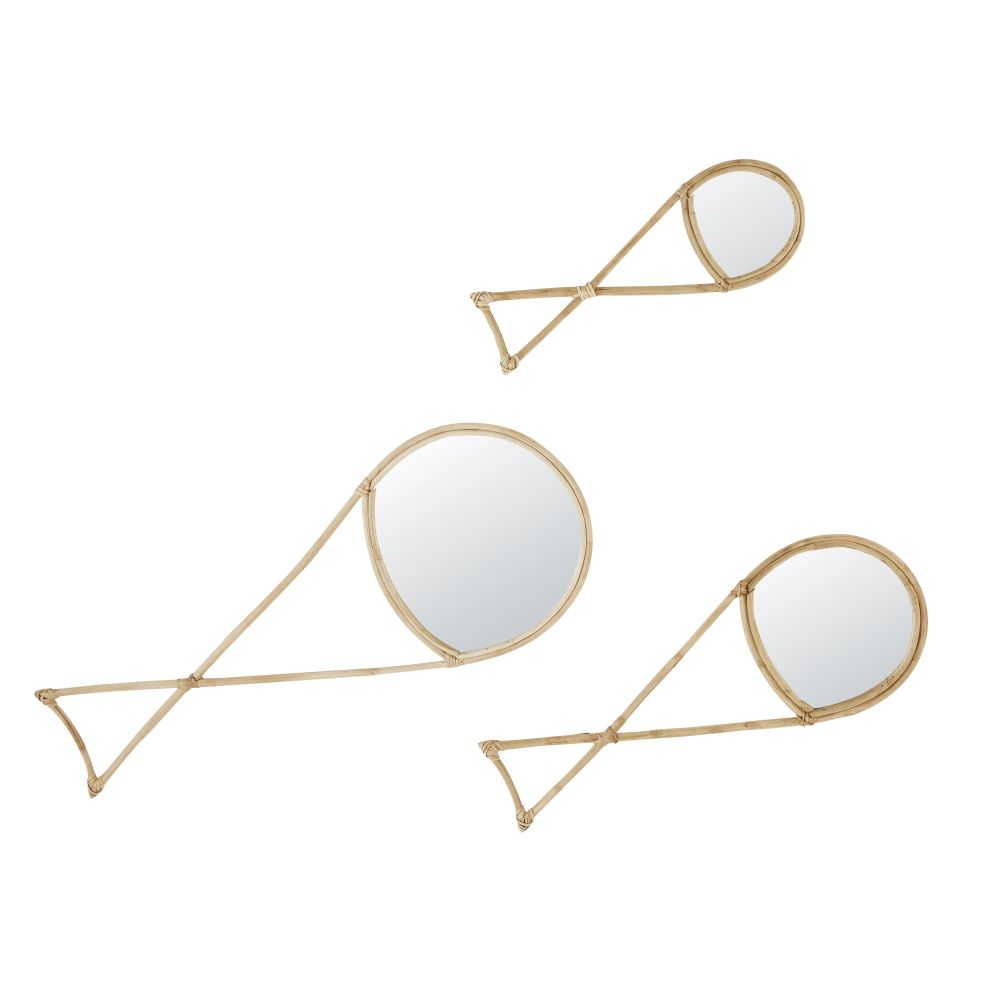 Vissen Spiegels Van Rotan (x3)