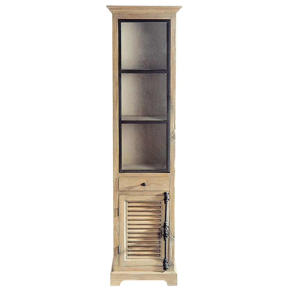 Vitrine en bois recyclé L 52 cm