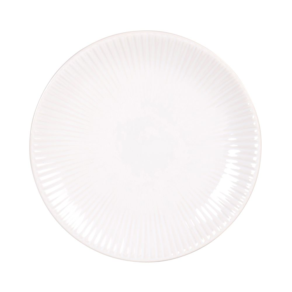 Wit Dessertbord Van Gres