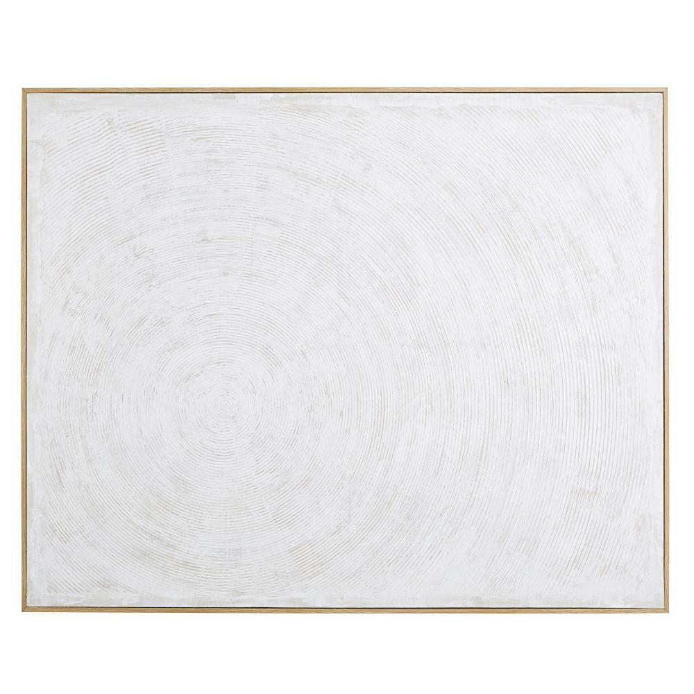 Wit Geschilderd Canvas 153 X 123 Cm