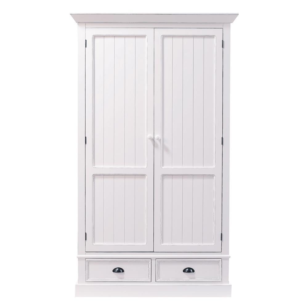 Witte Garderobekast Met 2 Lades