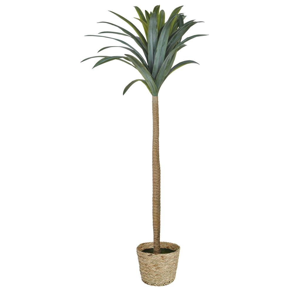 Yucca Artificiel Et Pot En Fibre Végétale H158