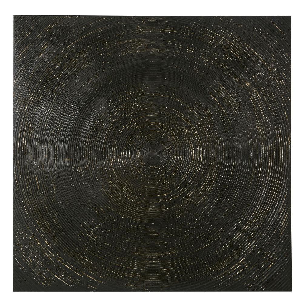 Zwart Geschilderd Canvas 100 X 100 Cm