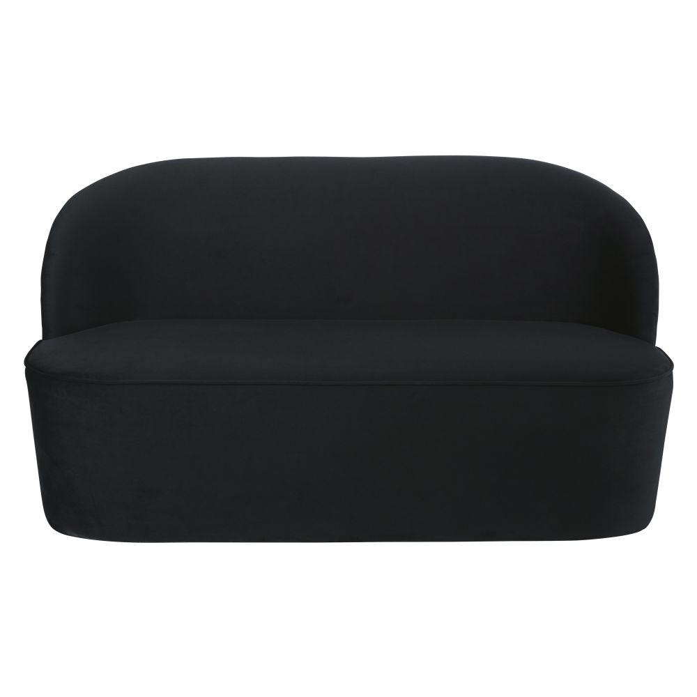 Zwarte Fluwelen Zitbank Met 2/3 Zitplaatsen Voor Professioneel Gebruik