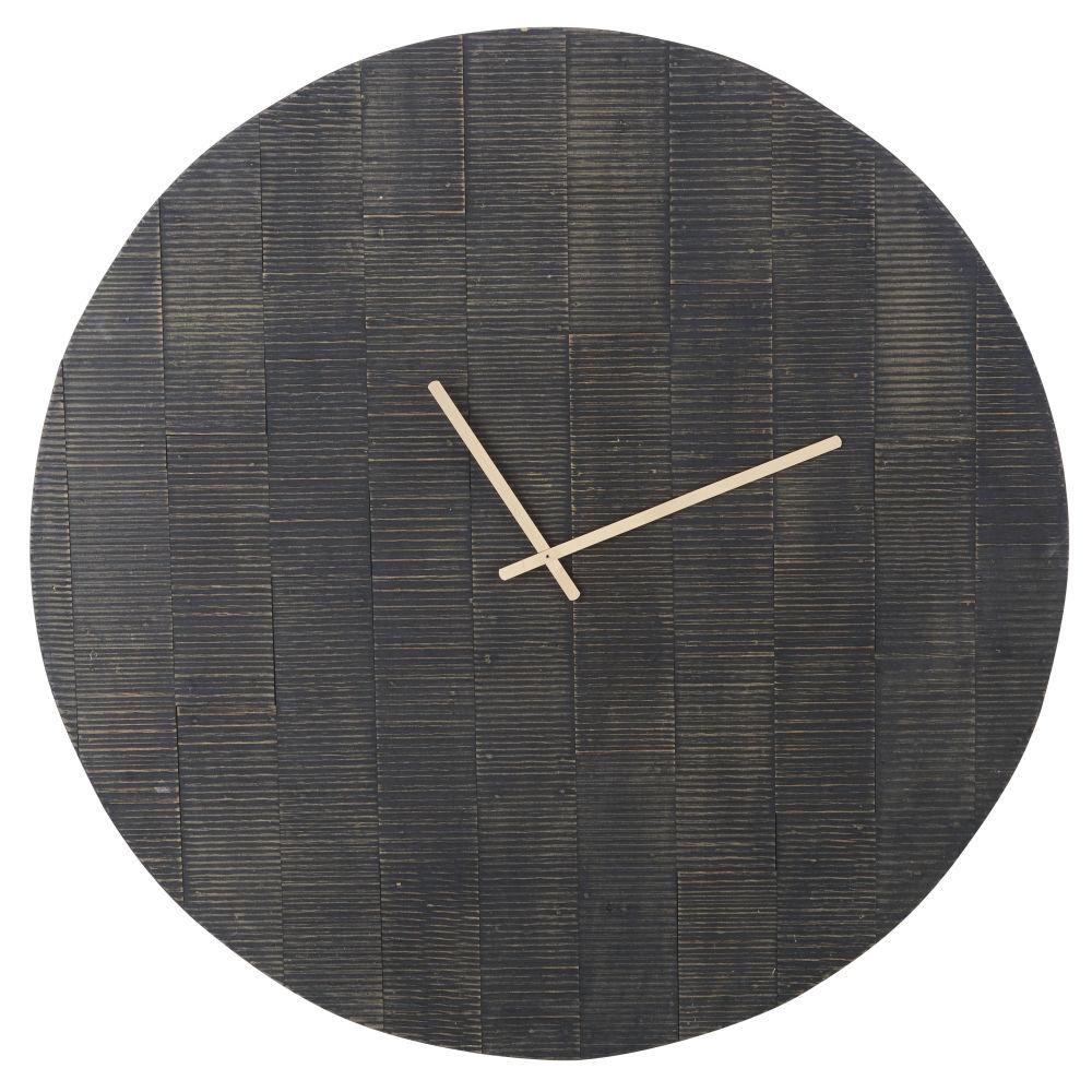 Zwarte Gegraveerde Klok D100