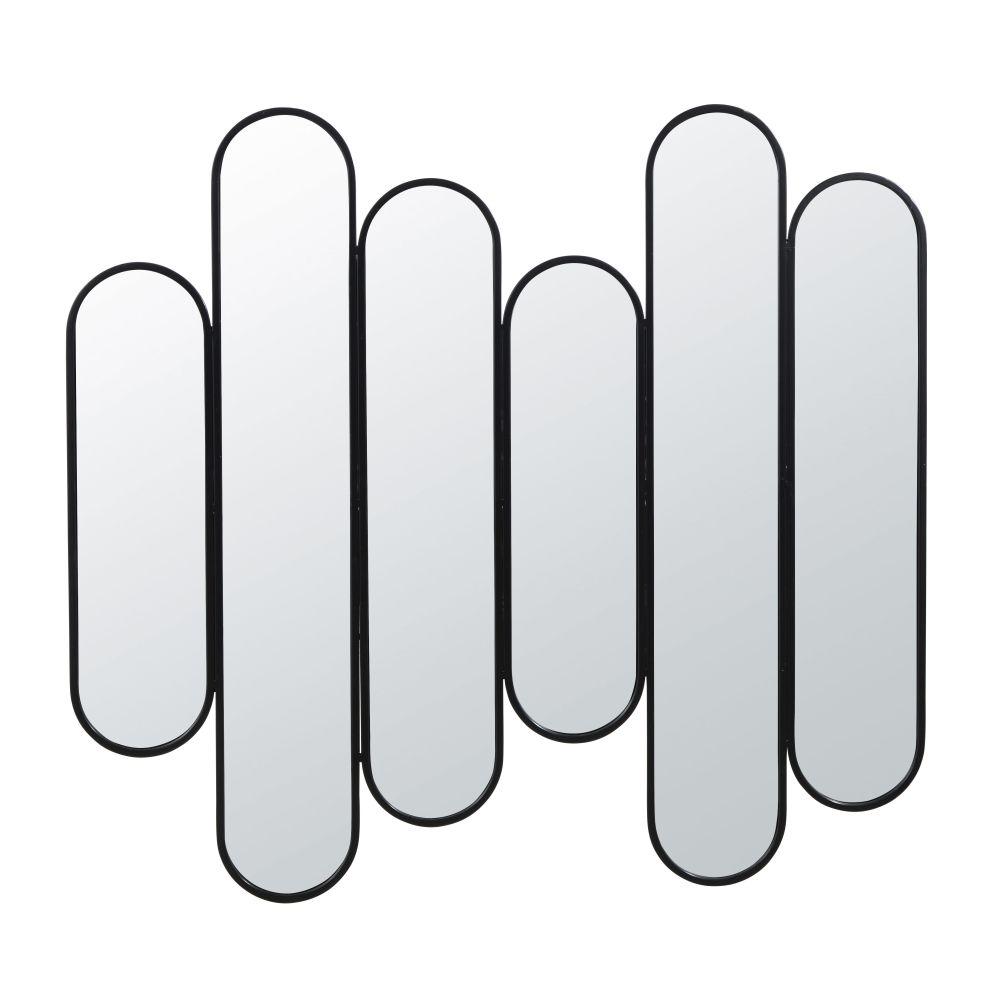 Zwarte Metalen Spiegel 108 X 100 Cm